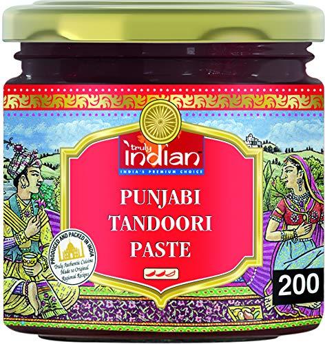 TRULY INDIAN Punjabi Tandoori Paste – Scharfe Würzpaste für schnelle Gerichte – Authentisch indisch kochen – 6 x 200 g