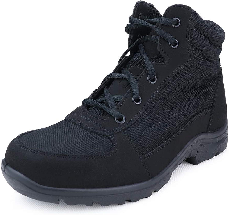 LUDEY Herren Wanderschuhe Militrstiefel Armee Combat Tactical Stiefel Arbeitsstiefel Trekking Schuhe Outdoorschuhe Wildleder Beige A-JA8