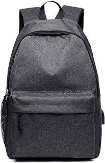 longzhuo Mochila con conexión USB, mochila coreana, mochila escolar para niños y niñas, mochila multifunción para viajes juveniles, gran capacidad