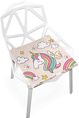 gaopeng Seat Cushion Chair Cushions Covers Set Colorful Unicorn Decorative Indoor Outdoor Velvet Double Printing Design Soft