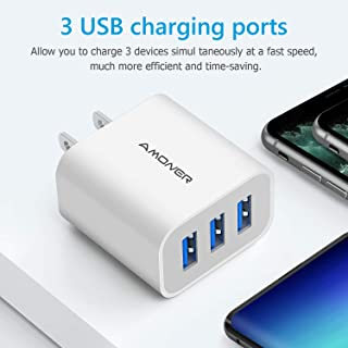 2Pack Wall Charger Plug for iPhone Xs/XS Max, Galaxy9/8/7