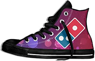 Dominoâ€s Pizza Logo High Top Classic Casual Canvas Fashion Shoes Sneakers For Women & Men