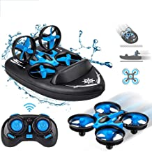 $22 » Mini Drone, Kids Toy Flying Toys RC Boats for Pools and Lakes, Remote Control Car for Kids, Sea-Land-Air Mode Switchable Hovercraft RC Quadcopter Helicopter Gifts for Boys Girls (JJRC H36F Mini Drone)