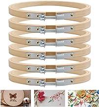 WLKK 10 St/ück//Set Kreuzstichrahmen aus Holz Mini-Stickrahmen f/ür Kunsthandwerk rundes ovales Ringset