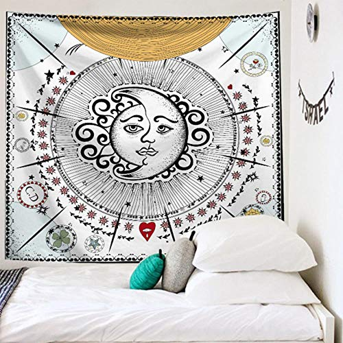 Gran Tarot Tapiz de pared La luna parece convertirse en un tapiz Estrellas Decoración de dormitorio Funda de cama Funda de edredón Decoración de pared de sol 230180