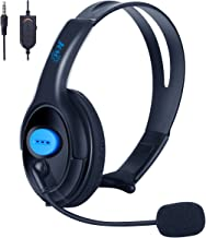 PS4 Xbox One Unilateral Headset, Joso 3.5mm Wired Gaming Headphone Online Chat One Ear Headset Headphone with Mic for PS4, PS4 Pro, PS4 Slim, Xbox One, Xbox One S, Xbox One X