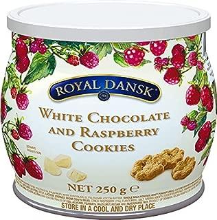 ロイヤルダンスク ホワイトチョコ&ラズベリークッキー 250g