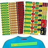 INDIGOS UG pegatinas nombre niños - set mixto - 160 piezas - coche de carreras - ropa y objetos - 80 planchas para ropa + 80 pegatinas - bolígrafos de guardería, vasos, reglas individualmente