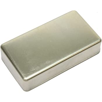 USA FIREBIRD MINI HUMBUCKER PICKUP COVER NICKEL PLATED NICKEL SILVER NO HOLES