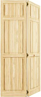 Bi-fold Door, Six-panel Style Solid Wood (80x30)