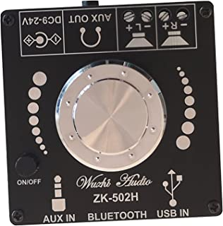 MERIGLARE Placa amplificadora Bluetooth 5.0, Módulo amplificador de potência de áudio Hifi, com entrada de placa de som AU...