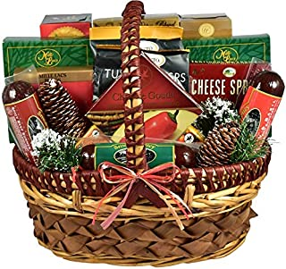 Savory Snacks Exquisite Sausage and Cheese Gift Basket | Meat and Cheese Christmas Gift Basket