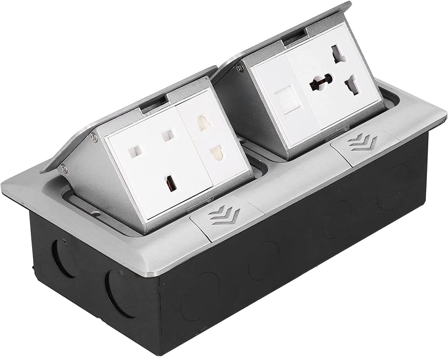 Pop Up Floor Outlet Socket Beauty products Inexpensive 220 x 120mm Electrical Concealed Outl