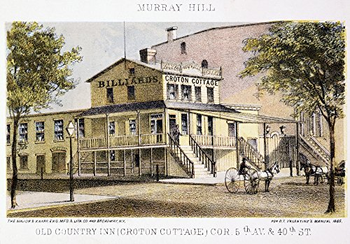 Murray Hill New York City Nnew York City Views Old Country Inn (Croton Cottage) On Corner Of 5Th Ave And 40Th St Murray Hill Lithograph 1865 Poster Print by (24 x 36)