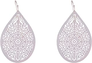 Flying Jewellery Brass Drop Earrings, French Closure
