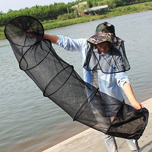 Tuzi QiuGe Faltbare Fisch-Netz Faltbare Fisch-Netz Draht Fisch-Netz Anti-Scraper Pflege, klappbar Netz Crayfish Fall