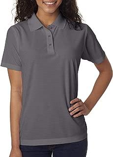 Ultraclub Ladies' Cool & Dry Box Jacquard Performance Polo Shirt