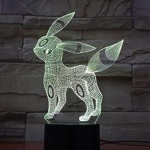 3D Illusion Light Go Umbreon Figure Boy LED Night Lamp Living Room Decorative Lamp Festival Gift 3D Nightlight Umbreon
