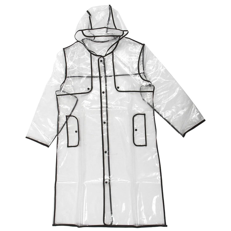 JVSISM 女性のファッション 透明EVAレーンコート アウトドア 旅行 防水レーンコート 黒 130cm