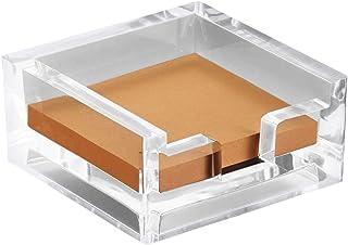 Modern Innovations 3 x 3 Crystal Clear Acrylic Notepad Holder W/O Pads - Sticky Notes Holder - Sticky Notepad Holder Perfe...
