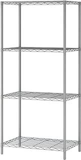 MULSH 4-Tier Wire Shelving Metal Wire Shelf Storage Rack Durable Organizer Unit Perfect for Kitchen Garage Pantry Organization in Grey,21'Wx14 Dx46.5 H