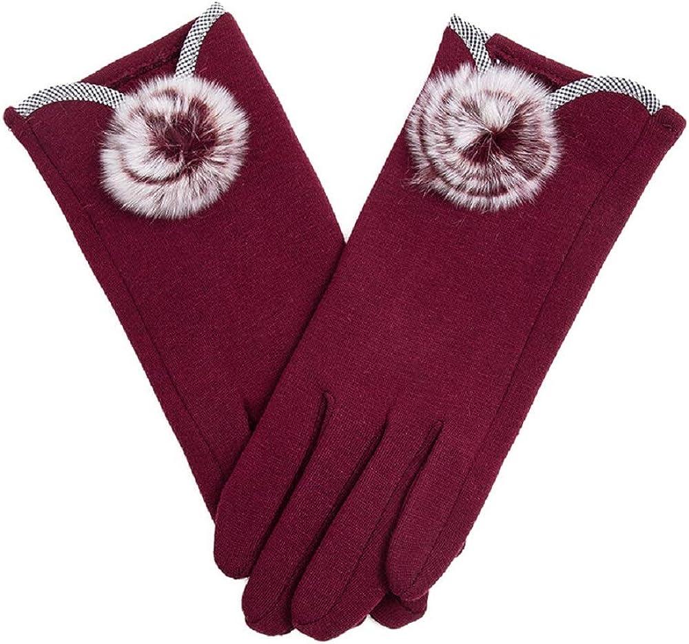 KUYOMENS Winter Women Gloves Warm Lined Touch Screen Driving Gloves