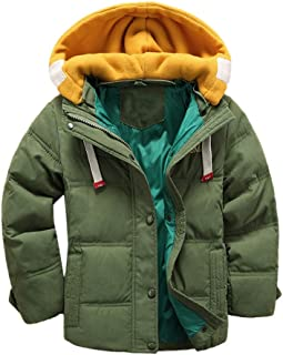 Baywell Toddler Boy Solid Warm Quilted Puffer Down Coat Jacket Winter