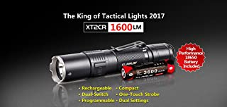 2017 KLARUS XT2CR CREE XHP35 HD E4 LED Flashlight 1600 lumens Compact Super-bright Dual-switch Rechargeable Tactical Flashlight