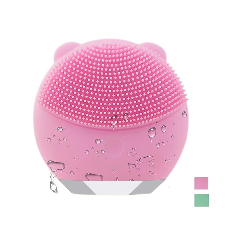 飛ぶかもしれないピーブ電動 洗顔ブラシ 音波洗顔 ボデイーブラシ 毛穴ケア 美顔器 クレンジング フェイスブラシ USB充電 防水式 洗顔器 3種の振動モード (ピンク)