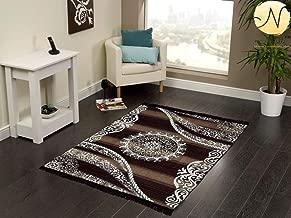 "Kk Home Store Decor Velvet Royal Carpet - |60"" inch x 84"" inch | 150 cm x 210 cm | 5 Feet x 7 Feet |-Brown Carpets for Living Room Hall Drawing Room Guest Room mat durri Yoga Jim Office"