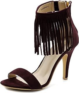 Women's Shoe Fringe Ankle High Pump Heel Sandals