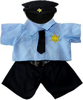 Policeman Uniform Outfit Teddy Bear Clothes Fits Most 14
