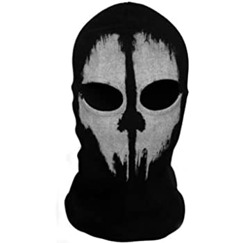 Amazon Com Balaclava Hood Face Ghost Skull Mask Hood Call Of Duty
