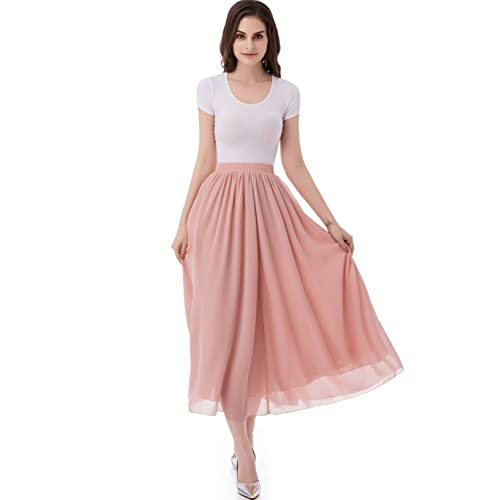 6ec1c75a2e3e Chiffon Midi Skirt  Amazon.com