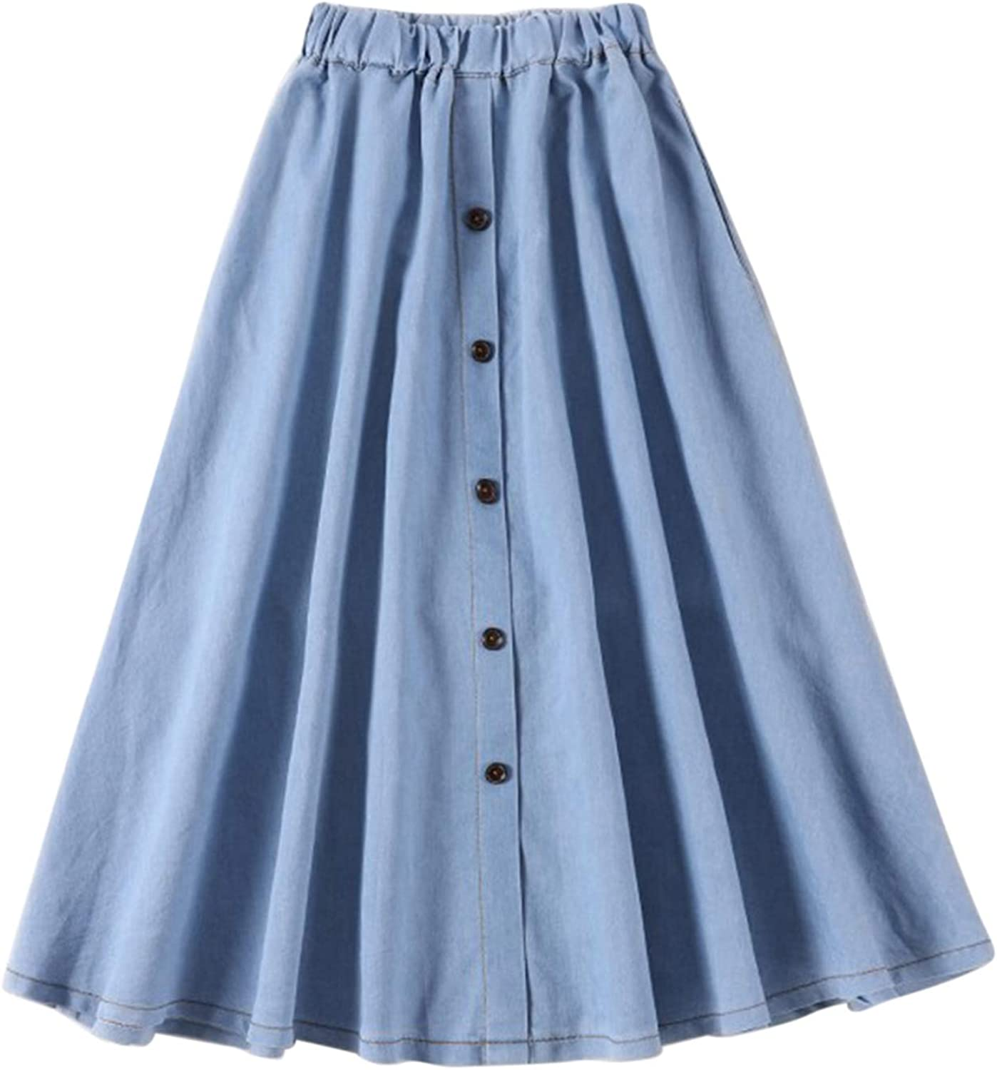 jxxiatang New Womens Casual Denim Long Skirts Party Cocktail Evening Dresses Outfits Clothes