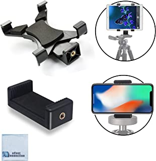 Universal Tablet Tripod Mount and Universal Smartphone Mount for All Smartphones and Tablets with eCostconnection Microfiber Cloth