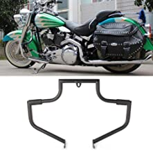 GZYF Motorcycle Engine Guard Highway Crash Bar Protection Fits 2000-2017 Harley Davidson FLSTC Softail Heritage Classic, Black