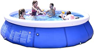 Studio 21 Graphix Portable Inflatable Above Ground Swimming Pool, Kids Adults Family Outdoor Backyard Garden Easy Set Blow...