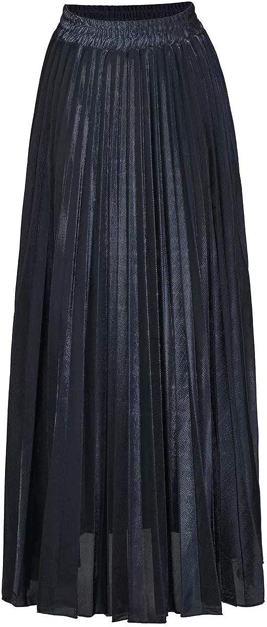 ThusFar Women's Summer Boho Chiffon Floral Print Elastic Waist A-Line Vacation Party Full Length Beach Long Maxi Skirts