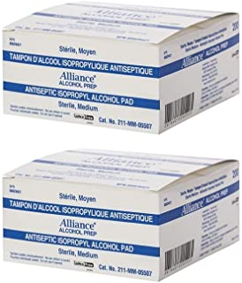 Alcohol Prep Pads by REDMed, Sterile Wipes, Medium 2-Ply Cotton 70% Isopropyl Individually Wrapped Box of 200, 400, 1200, 4000. (400/Pack)