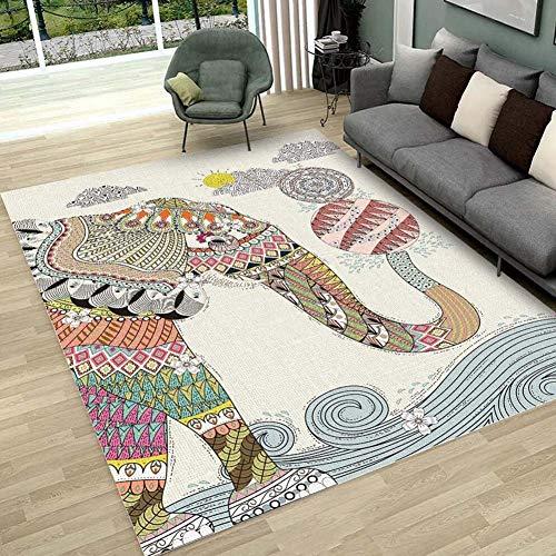 Böhmen ethnischen Stil teppiche Wohnzimmer Schlafzimmer kristall Kaschmir gedruckt couchtisch teppiche europäischen Carpet Bad wc Matte,F,160x230CM