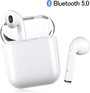 bluetooth headphones, wireless in-ear earphones I9-TWS mini sport headset with rechargeable storage box compatible with Apple iPhone Samsung Galaxy Huawei Vivo Oppo MI LG