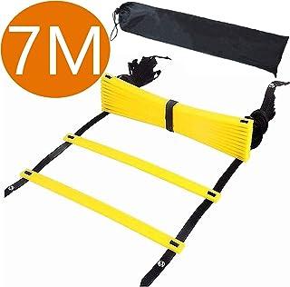 ラダー トレーニングラダー 野球 サッカートレーニング 7メートル プレート13枚 収納袋付き スピードラダー 瞬発力 敏捷性 アップ フットサル テニス 練習 トレーニングラダー ladder 7M13枚