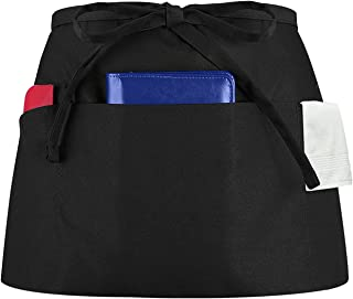 Syntus 3 Pockets Waterdrop Resistant Waitress Waist Apron