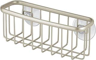 InterDesign Axis porte éponge - rangement évier en métal avec revêtement inoxydable - range eponge pour éponges et éponges...