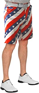 Pars and Stripes USA Mens Golf Shorts - 30W