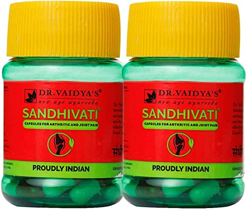 DR VAIDYA S new age ayurveda Sandhivati Capsules Ayurvedic Medicine for Joint 30 Capsules Pack of 2