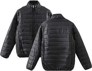E-Scenery Down Jacket Women's Winter Warm Long Sleeve Stand-Collar Solid Color Zipper Coat