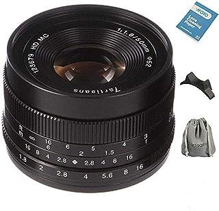 7artisans交換レンズ50mm/1.8 単焦点レンズCANON キャノン マウントカメラ対応 マニュアルフォーカス レンズポーチバッグ同梱(ブラック)