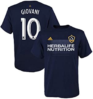 adidas Giovani Dos Santos Los Angeles Galaxy #10 Youth Player Name & Number T-Shirt Navy